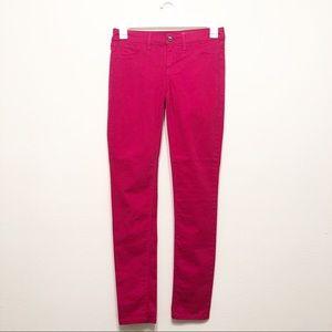 Hot Pink Spring Street Skinny Jeans - 27